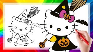 Hello Kitty Coloring Book Pages For Kids How to Draw Learn Colors With Hello Kitty Coloring Pages