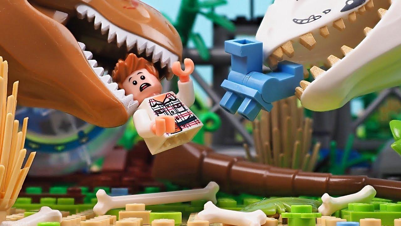 Hooligans in Lego Jurassic World 2 - Mini movie - YouTube