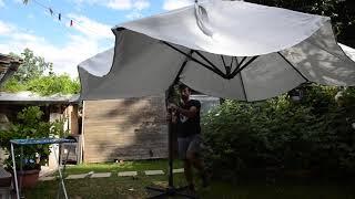 Siena Ampelschirm Sonnenschirm aufbauen ohne Bedienungsanleitung