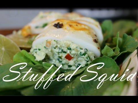 Stuffed Squid Seafood Recipe _ How to Make Squid
