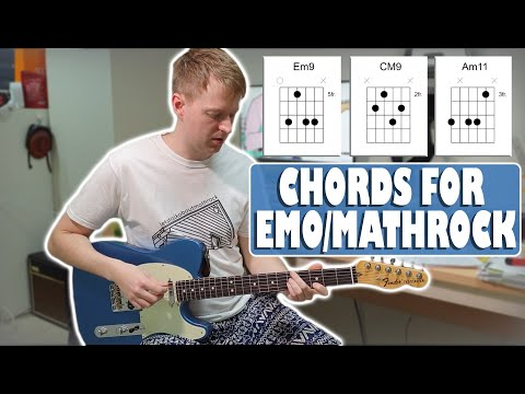 Commonly Used Chords in Math Rock and Emo in Standard Tuning