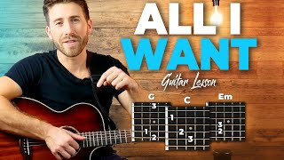 All I Want Guitar Tutorial (Kodaline) Easy Chords Guitar Lesson