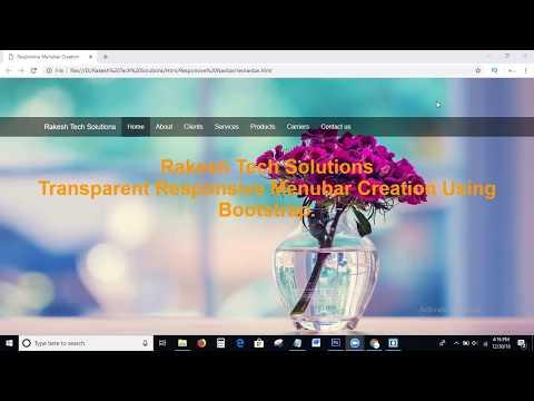 Transparent Responsive Menubar Creation Using Bootstrap   Responsive Navbar   Responsive Navigation