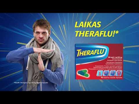 Theraflu 500 mg/6,1 mg/100 mg kietosios kapsulės, Kietosios kapsulės, N16