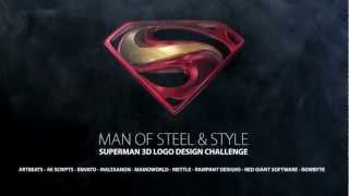 Superman 3d Logo Design Teaser