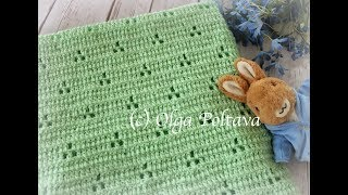 How To Crochet Baby Blanket, Easy Baby Blanket Pattern, Crochet Video Tutorial