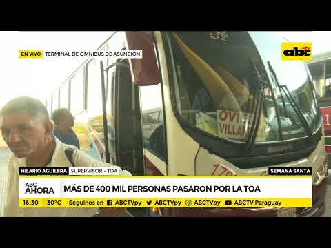 Más de 400.000 personas pasaron por la Terminal de Ómnibus de Asunción