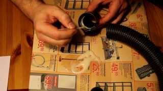 Staubsaugerschlauch reparieren Teil 04/04: Verkleben