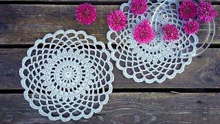 Simple Crochet Doily Tutorial Easy For Beginners
