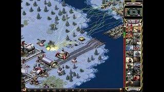 Red Alert 2 - 1 vs 7 The Brutal Enemy Strategy! Tesla Tank upgrade