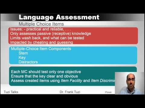 , title : 'Language Assessment:  Designing a Language Test'