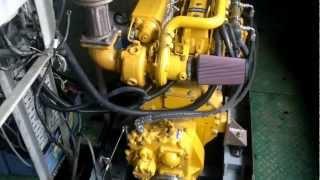 Two marine John Deere engines 6068TFM75 working on boat