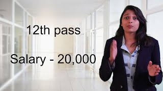 12th pass private job | salary - 20,000 | Direct interview no charge
