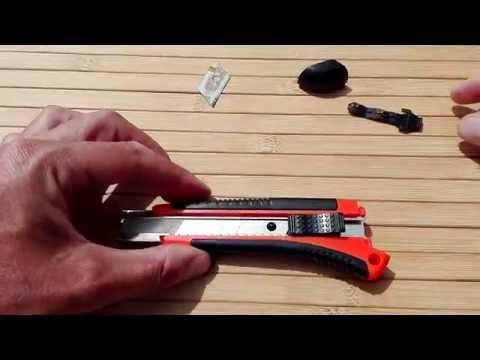 Wie wechselt man die Klinge bei einem Cuttermesser (Teppichmesser)?
