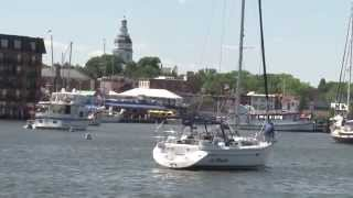 preview picture of video 'Annapolis Maryland Harbor Sailing'