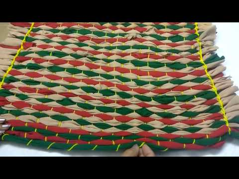 How To Make Rug , Carpet , Door Mat , Flor Mat Using Legging and Old T-Shirt