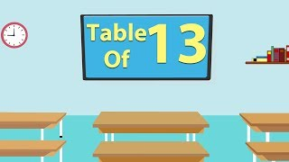 13 Times Table For Beginners | 13x Table | Learn Thirteen Multiplication Tables For Kids - Maths