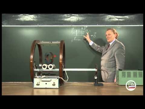 Контур с током в однородном поле (тележка) - демонстрация в инженерно физическим институте