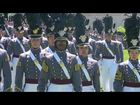 The crowd of cadets tossing their caps in air at West Point's graduation ceremony Saturday will include a record-high 34 black women. The 34 women comprise a small slice of the roughly 1,000 cadets in the Class of 2019. (May 24)