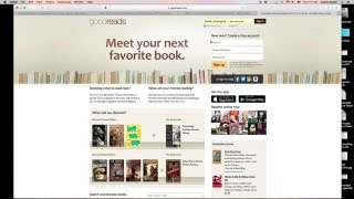 Reading 3: Goodreads, signing up, joining your group & adding a book