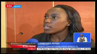Kenyan women rugby 7's team 'lionesses' returns from Africa 7's, KTN Prime 9/20/2016