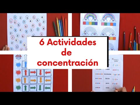 6 ACTIVIDADES PARA TRABAJAR ATENCIÓN Y CONCENTRACIÓN