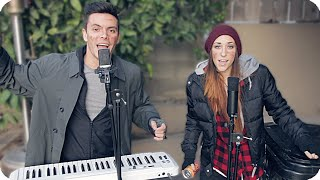 "Annie - ""It's The Hard-Knock Life"" Loop Pedal Cover (HOBO VERSION) Danny Padilla & Ally Hills"