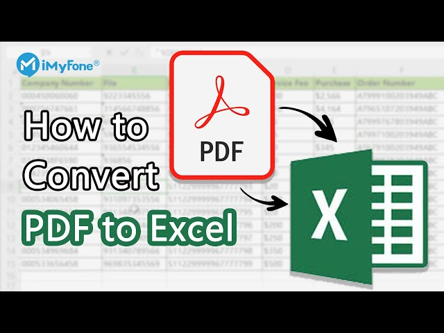 [SAFE & FAST] How to Convert PDF to Editable Excel without Losing Format in 2021