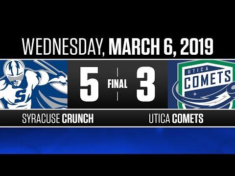 Crunch vs. Comets   Mar. 6, 2019