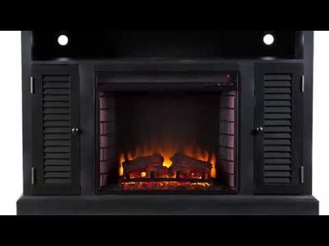 Video for Antebellum Black Media Electric Fireplace