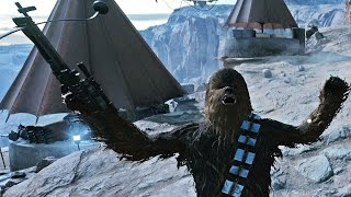 Star Wars Battlefront Heroes vs Villains Chewbacca Gameplay