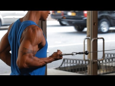 How to Do a Standing One-Arm Row   Back Workout