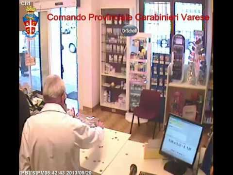 Il filmato delle rapine in farmacia a Saronno