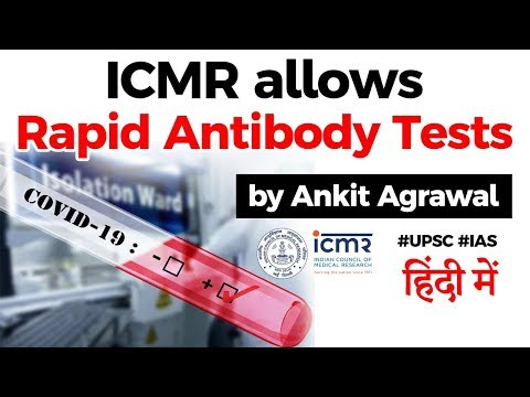 ICMR allows Rapid Antibody Test, How it will help fight Coronavirus in India? Current Affairs 2020