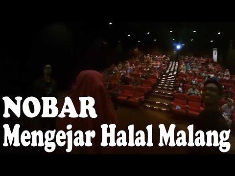Nobar film mengejar halal di bioskop mandala 21 malang