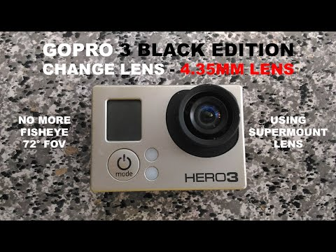 Gopro Hero 3 Black Edition - Change Lens - 4.35mm Lens & Supermount