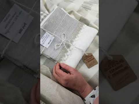 Постельные льняные ткани