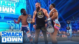The New Day challenge Braun to a dance-off after their 6-man tag match   FRIDAY NIGHT SMACKDOWN
