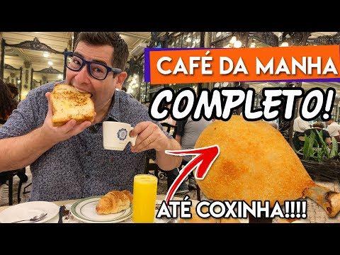Café manhã na Confeitaria Colombo