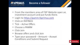 PAMM Followers Webinar - FXPRIMUS