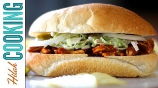 How to Make BBQ Chicken Sandwich | Hilah Cooking
