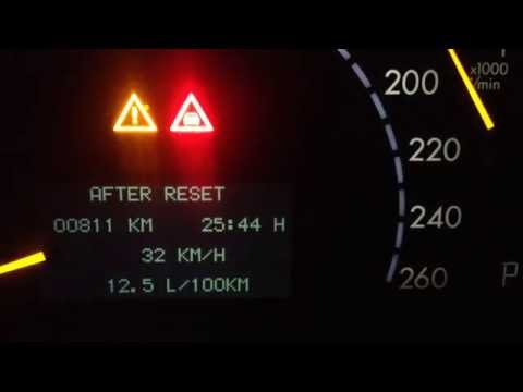 Mercedes-Benz S320 (W220) расход топлива