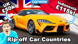 The £115K Toyota Supra and 7 other cars which are crazy expensive in some countries!
