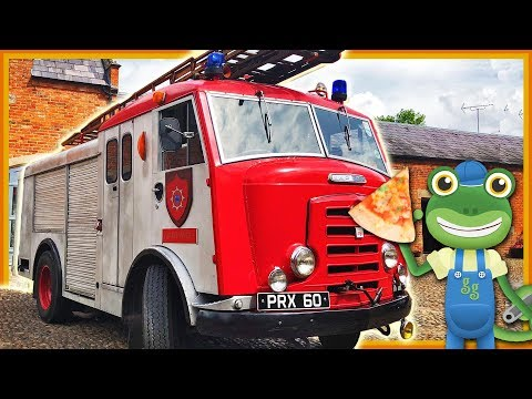 Fire Engine Pizza Truck For Children | Gecko's Real Vehicles