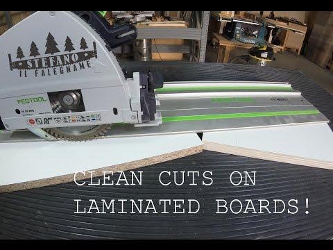 Taglio pulito su laminato con la sola sega circolare!