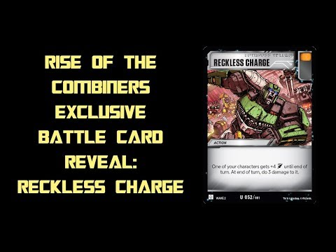 RECKLESS CHARGE – Transformers Trading Card Game TCG Wave 2 Rise of the Combiners Battle Card Reveal