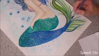 Mermaid Princess - Speed Painting By Fiona-Clarke.com