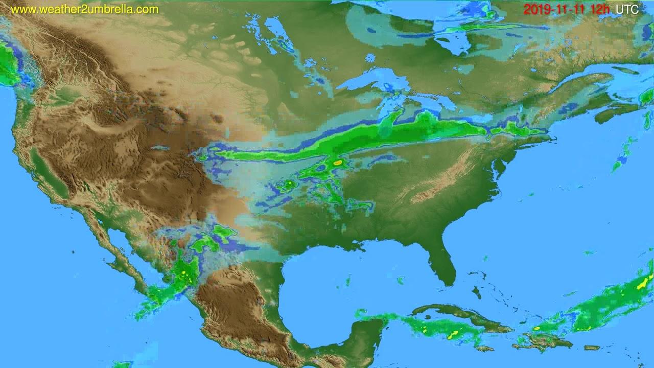 Radar forecast USA & Canada // modelrun: 00h UTC 2019-11-11