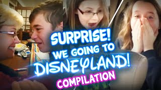 SURPRISE! We Going To Disneyland... Today! Disneyland Surprise Trip Compilation.