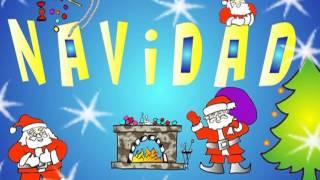 Villancico Navidad Papa Noel Volando Va